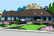 Home Plan - Ranch Exterior - Front Elevation Plan #60-584
