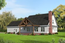 Country Exterior - Rear Elevation Plan #932-276