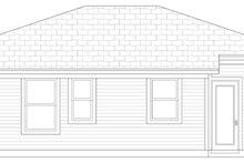 Cottage Exterior - Rear Elevation Plan #84-101
