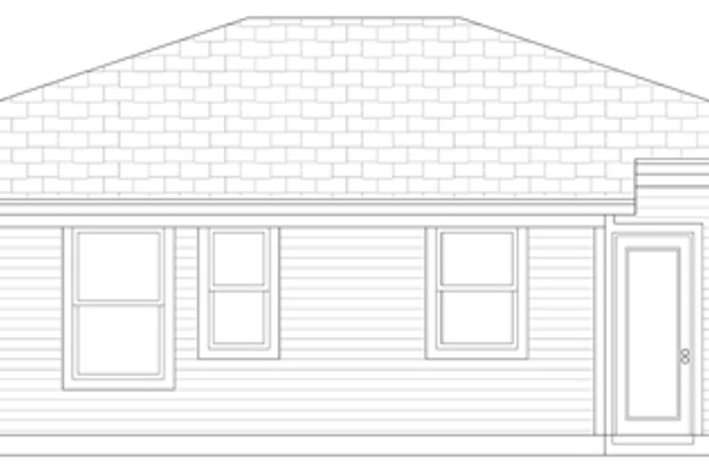 Cottage Exterior - Rear Elevation Plan #84-101 - Houseplans.com