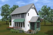Farmhouse Style House Plan - 2 Beds 2 Baths 1200 Sq/Ft Plan #933-8 Exterior - Covered Porch
