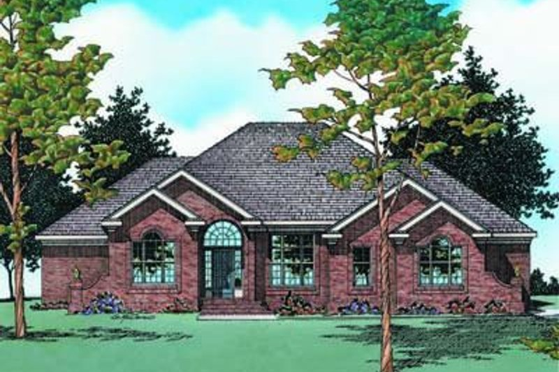 Traditional Exterior - Front Elevation Plan #20-1067 - Houseplans.com