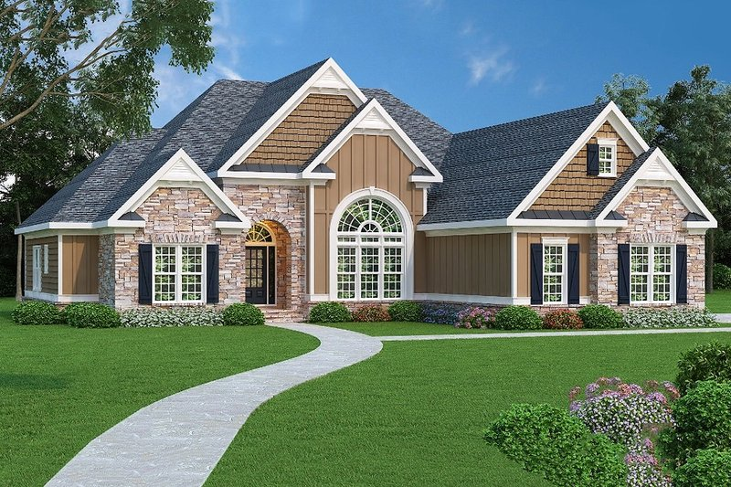 Dream House Plan - Traditional Exterior - Front Elevation Plan #419-141