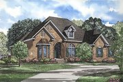 European Style House Plan - 4 Beds 2.5 Baths 2606 Sq/Ft Plan #17-1042 Exterior - Front Elevation