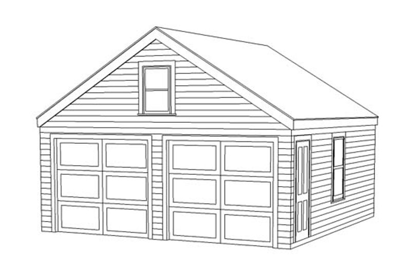 Country Style House Plan - 0 Beds 0 Baths 1 Sq/Ft Plan #477-9 Exterior - Front Elevation