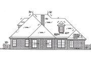 European Style House Plan - 4 Beds 3.5 Baths 2709 Sq/Ft Plan #310-964 Exterior - Rear Elevation