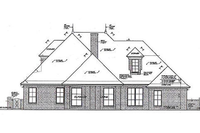 European Exterior - Rear Elevation Plan #310-964 - Houseplans.com