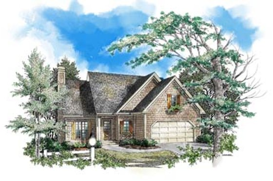Traditional Exterior - Front Elevation Plan #71-106