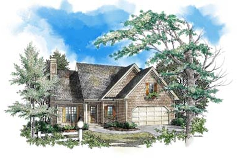Traditional Style House Plan - 3 Beds 2.5 Baths 1694 Sq/Ft Plan #71-106