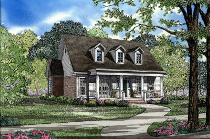 Architectural House Design - Southern Exterior - Front Elevation Plan #17-1011