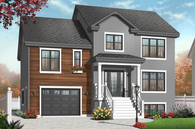 Architectural House Design - Traditional Exterior - Front Elevation Plan #23-2391