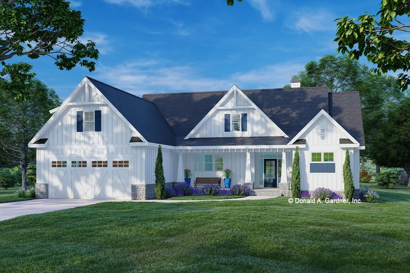 House Plan Design - Farmhouse Exterior - Front Elevation Plan #929-1138