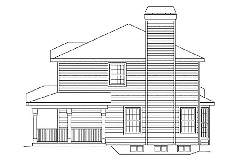 Traditional Exterior - Other Elevation Plan #57-154 - Houseplans.com