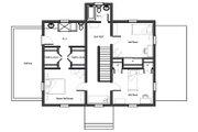 Colonial Style House Plan - 3 Beds 2.5 Baths 2358 Sq/Ft Plan #492-2 Floor Plan - Upper Floor Plan