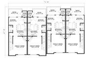European Style House Plan - 2 Beds 2.5 Baths 5456 Sq/Ft Plan #17-1172 Floor Plan - Main Floor Plan