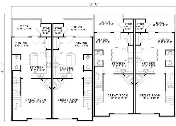 European Floor Plan - Main Floor Plan #17-1172