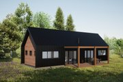 Modern Style House Plan - 2 Beds 2 Baths 853 Sq/Ft Plan #933-11 Exterior - Rear Elevation