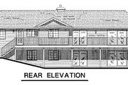 Ranch Style House Plan - 3 Beds 2 Baths 1480 Sq/Ft Plan #18-156 Exterior - Rear Elevation