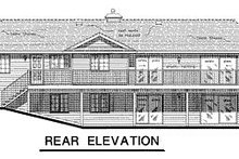 Ranch Exterior - Rear Elevation Plan #18-156