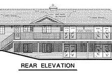 House Blueprint - Ranch Exterior - Rear Elevation Plan #18-156