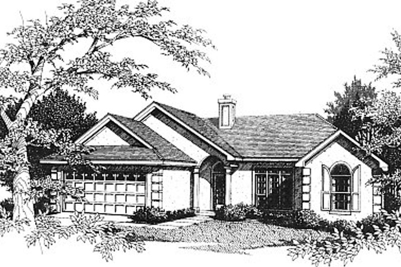 Mediterranean Exterior - Front Elevation Plan #14-129