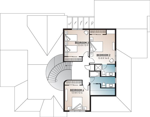 Dream House Plan - Traditional Floor Plan - Upper Floor Plan #23-329