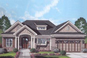 Home Plan - Ranch Exterior - Front Elevation Plan #46-888