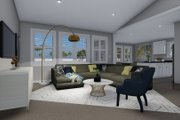 Traditional Style House Plan - 3 Beds 2 Baths 1644 Sq/Ft Plan #1060-56 Interior - Family Room