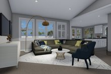 Traditional Interior - Family Room Plan #1060-56