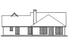 Home Plan Design - Country Exterior - Rear Elevation Plan #42-392