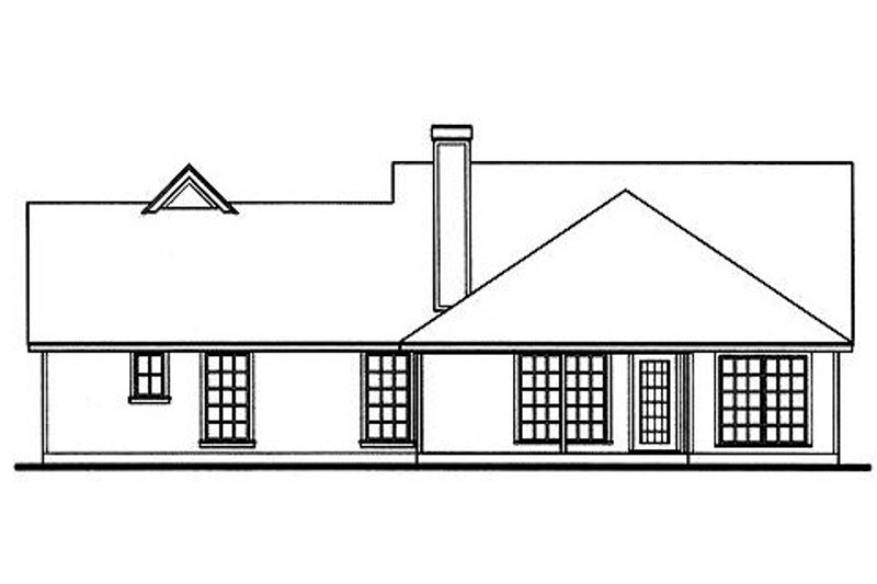 Country Exterior - Rear Elevation Plan #42-392 - Houseplans.com