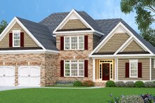 Home Plan - Traditional Exterior - Front Elevation Plan #419-117