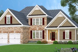 Architectural House Design - Traditional Exterior - Front Elevation Plan #419-117