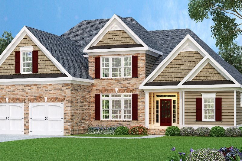Traditional Exterior - Front Elevation Plan #419-117 - Houseplans.com