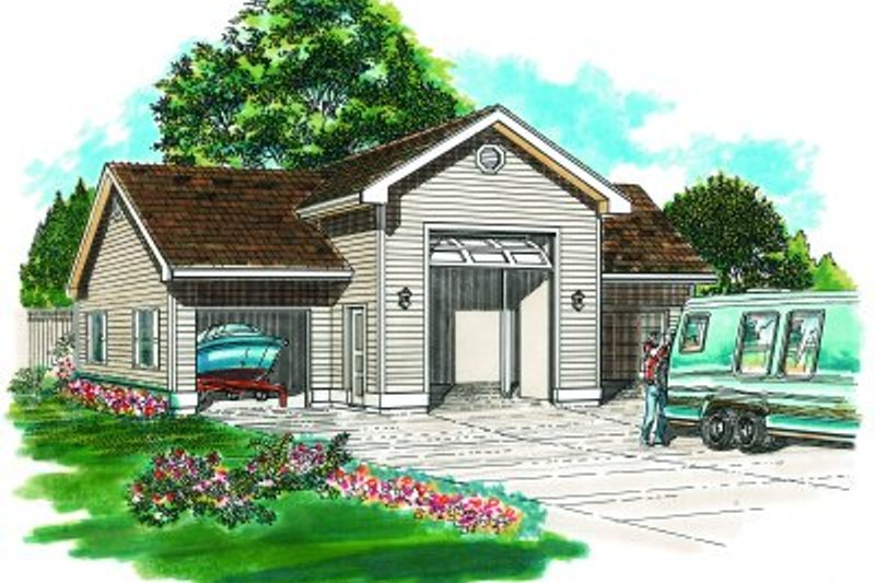 Traditional Exterior - Front Elevation Plan #47-506