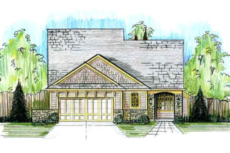 Cottage Exterior - Front Elevation Plan #46-498