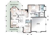 Country Style House Plan - 4 Beds 3.5 Baths 2628 Sq/Ft Plan #23-2131 Floor Plan - Main Floor Plan
