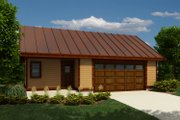 Cabin Style House Plan - 0 Beds 1 Baths 816 Sq/Ft Plan #118-137