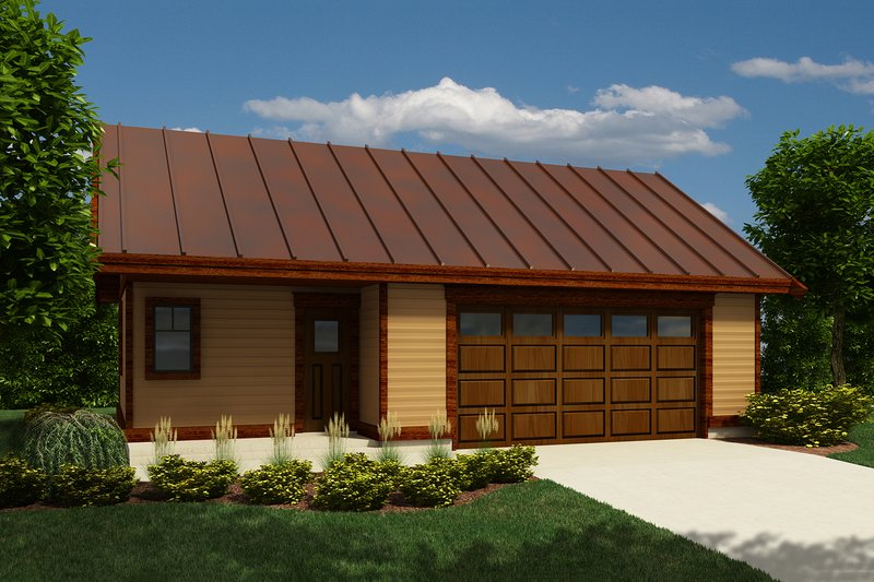 Cabin Style House Plan - 0 Beds 1 Baths 816 Sq/Ft Plan #118-137 Exterior - Front Elevation