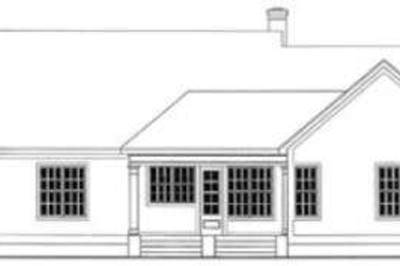 Traditional Exterior - Rear Elevation Plan #406-246 - Houseplans.com