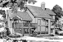 Architectural House Design - Traditional Exterior - Rear Elevation Plan #57-124