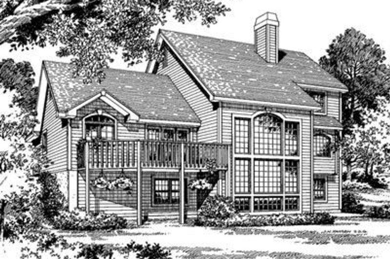 Traditional Exterior - Rear Elevation Plan #57-124 - Houseplans.com