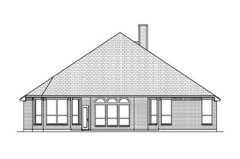 European Exterior - Rear Elevation Plan #84-480 - Houseplans.com