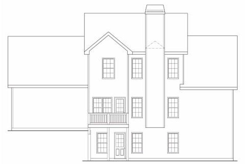 Traditional Exterior - Rear Elevation Plan #419-115 - Houseplans.com