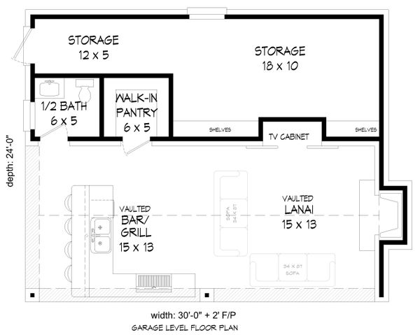 Country Floor Plan - Main Floor Plan Plan #932-135
