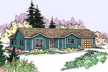 Home Plan - Ranch Exterior - Front Elevation Plan #60-547