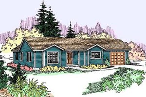 Ranch Exterior - Front Elevation Plan #60-547