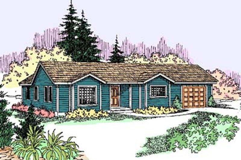 Ranch Exterior - Front Elevation Plan #60-547 - Houseplans.com