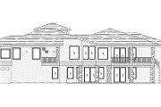European Style House Plan - 5 Beds 4 Baths 5645 Sq/Ft Plan #24-230 Exterior - Rear Elevation