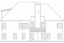 European Exterior - Rear Elevation Plan #419-126